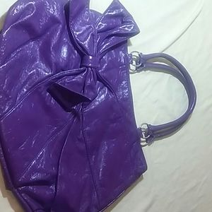 Large Purple Bow Purse
